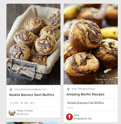 Muffins cu banane si Nutella