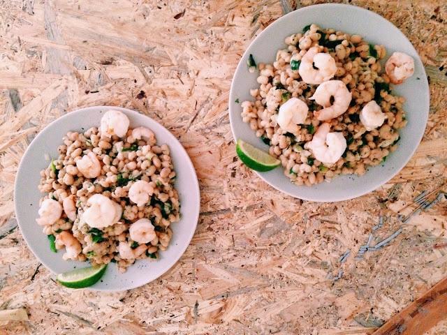 Salata de creveti cu fasole