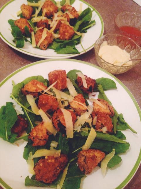 Salata cu vinete crocante