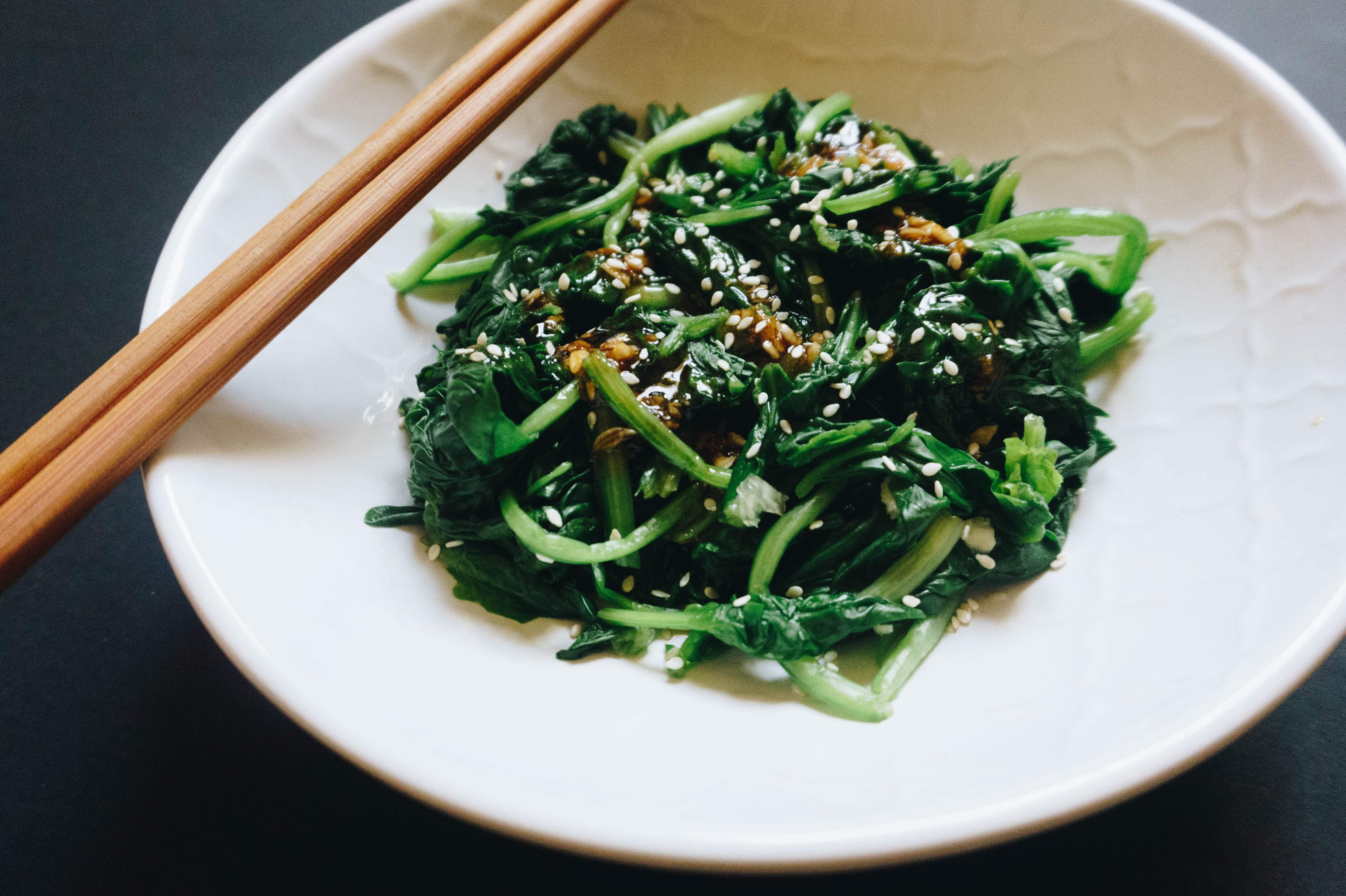 salata spanac asiatica